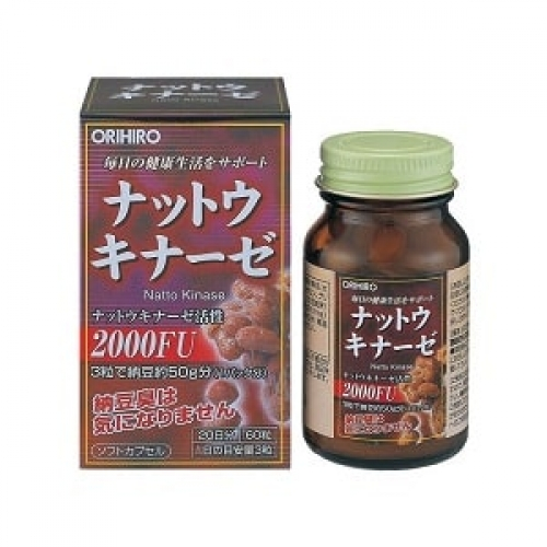 Наттокиназа (Natto Kinase) Orihiro, 60 капсул на 20 дней