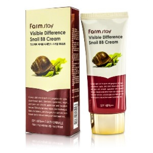 FarmStay VIsible Difference Snail BB Cream SPF 40 PA++ BB-крем с улиточным муцином FarmStay
